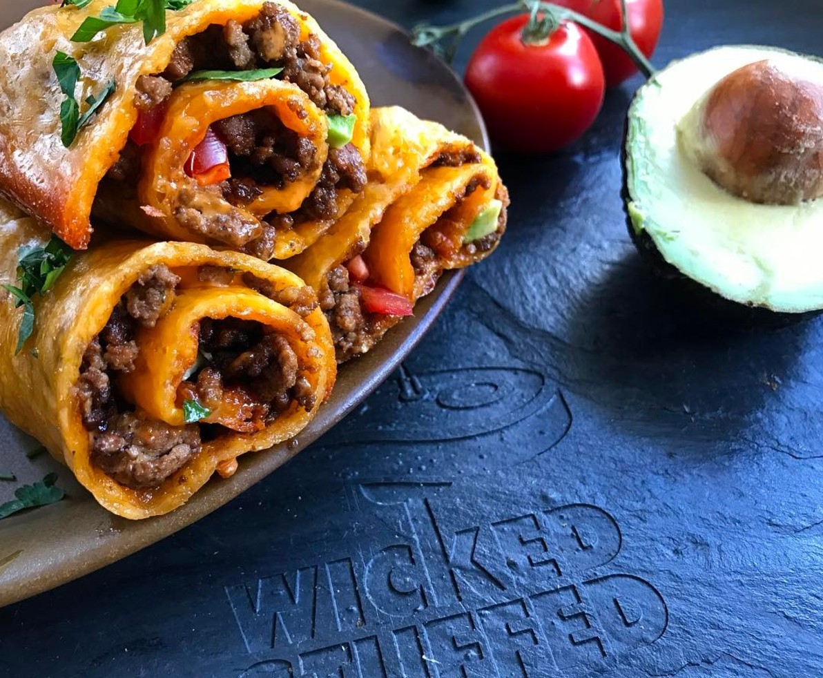 The best keto lunch ideas cheddar wrapped taco rolls keto grain free forumfinder Choice Image