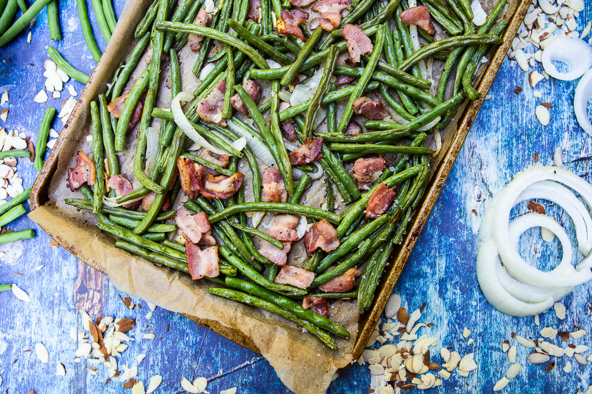 Sheet Pan Green Bean Casserole