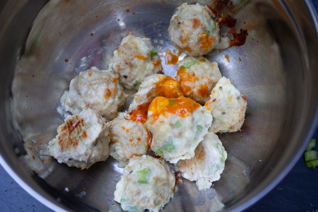 BlueCheese Buffalo Chicken Balls